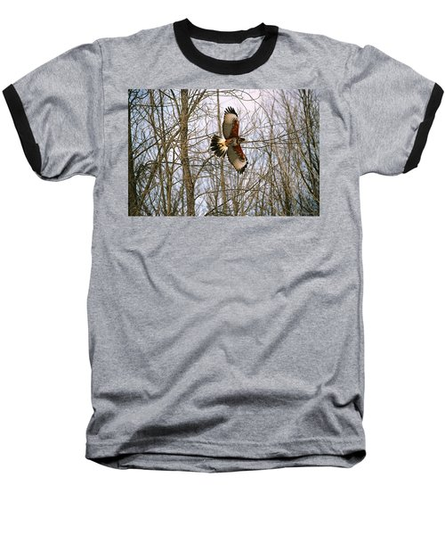 Baseball T-Shirt featuring the photograph In Flight by David Porteus