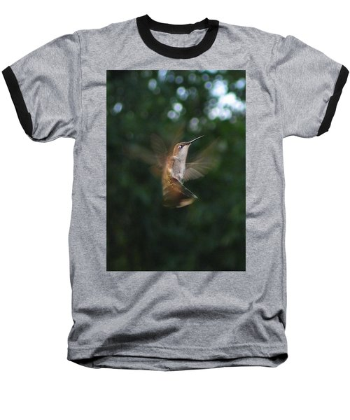 Baseball T-Shirt featuring the photograph In Flight by Photographic Arts And Design Studio