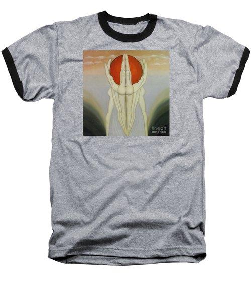 In Good Hands Baseball T-Shirt by John Stuart Webbstock