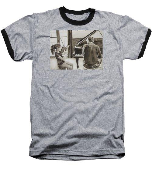 In Harmony Baseball T-Shirt by Carol Flagg