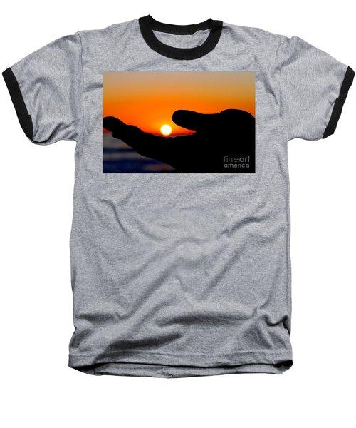 In His Hands By Diana Sainz Baseball T-Shirt