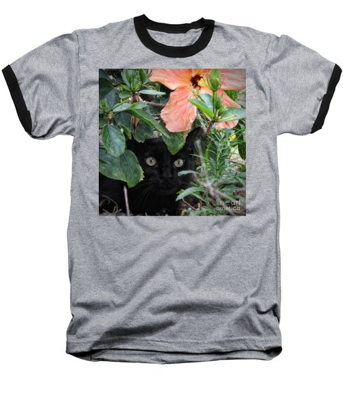Baseball T-Shirt featuring the photograph In His Jungle by Peggy Hughes