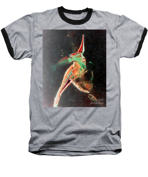 Baseball T-Shirt featuring the painting In Jest by Jacqueline McReynolds