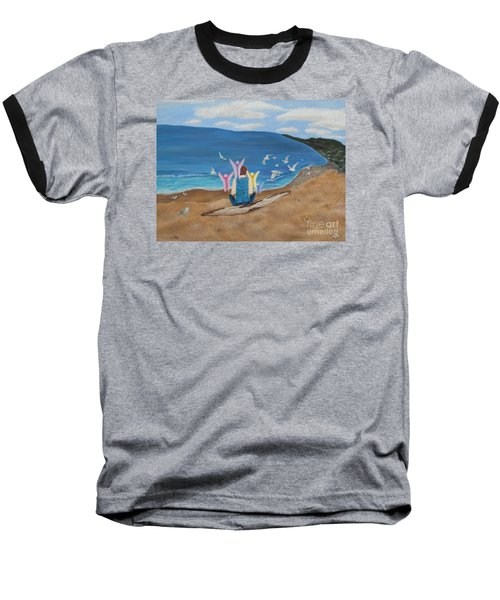 Baseball T-Shirt featuring the painting In Meditation by Cheryl Bailey
