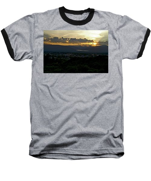 Baseball T-Shirt featuring the photograph In My Place by Jeremy Rhoades