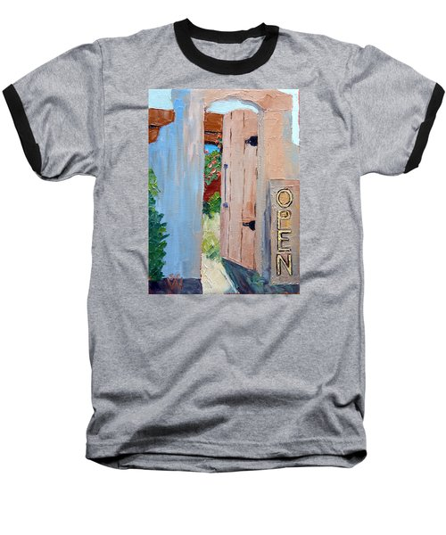 In Old Mesilla Nm Baseball T-Shirt by Susan Woodward
