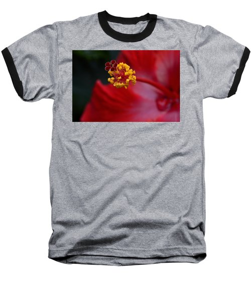 Baseball T-Shirt featuring the photograph In Red by Larry Bishop