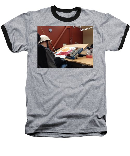 In Studio Baseball T-Shirt by Donald J Ryker III