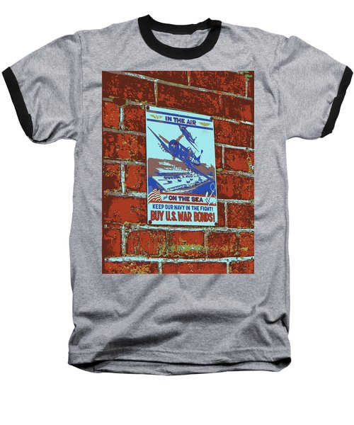 In The Air And On The Sea Poster Baseball T-Shirt by Jean Goodwin Brooks