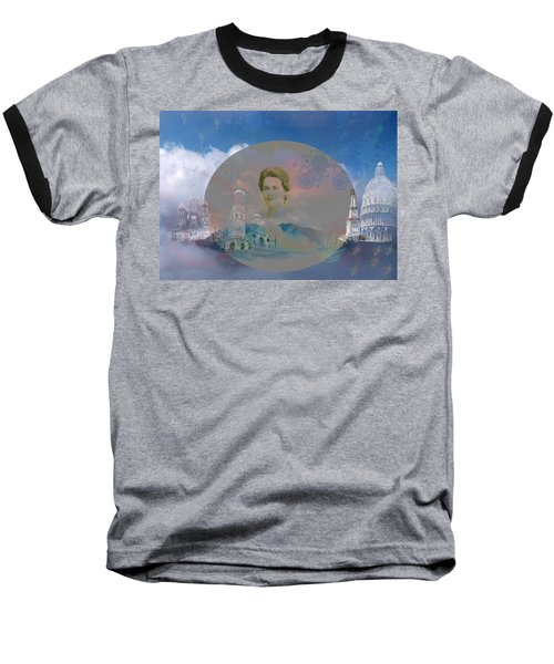 Baseball T-Shirt featuring the digital art In The Air by Cathy Anderson