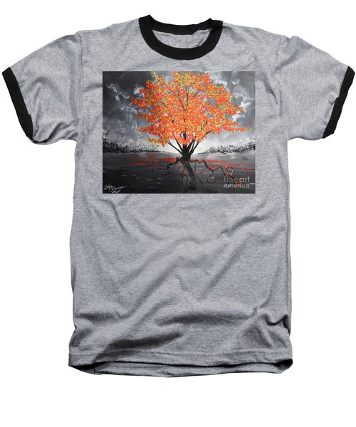 Blaze In The Twilight Baseball T-Shirt