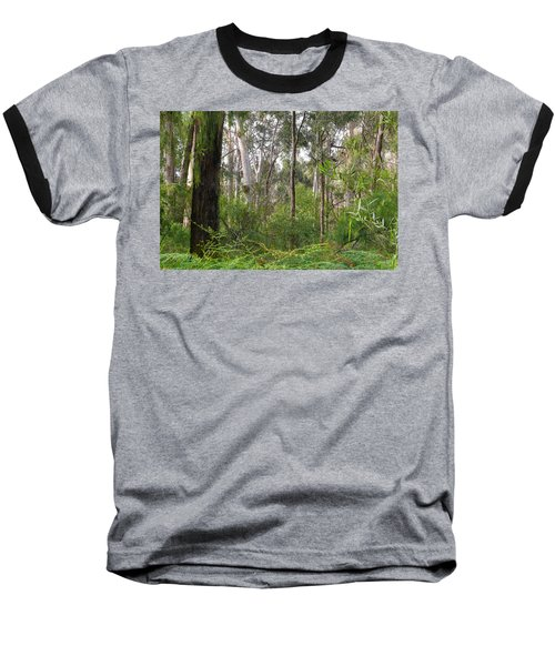 Baseball T-Shirt featuring the photograph In The Bush by Evelyn Tambour