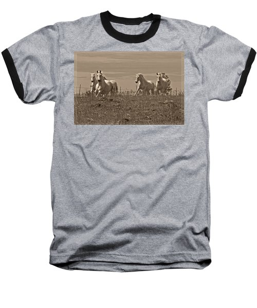 In The Field Baseball T-Shirt by Wes and Dotty Weber