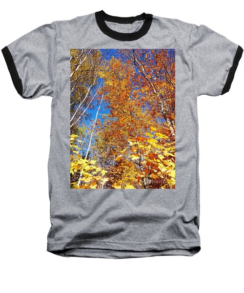 In The Forest At Fall Baseball T-Shirt