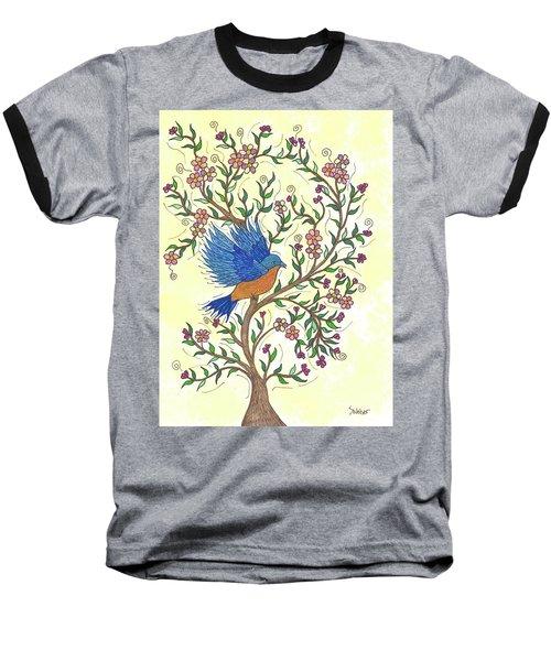 In The Garden - Bluebird Baseball T-Shirt