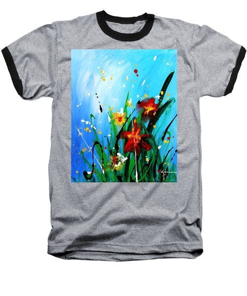 Baseball T-Shirt featuring the painting In The Garden by Kume Bryant