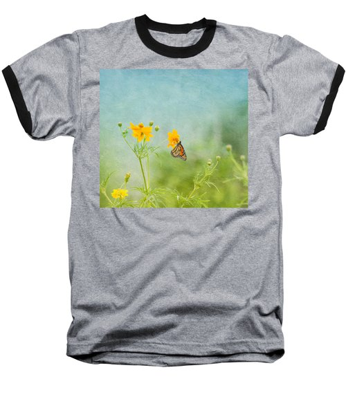 In The Garden - Monarch Butterfly Baseball T-Shirt