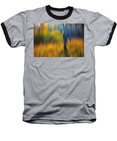 In The Golden Woods. Impressionism Baseball T-Shirt by Jenny Rainbow