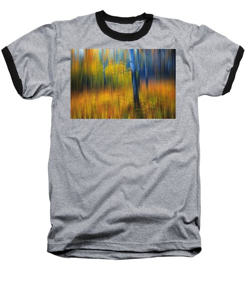 In The Golden Woods. Impressionism Baseball T-Shirt
