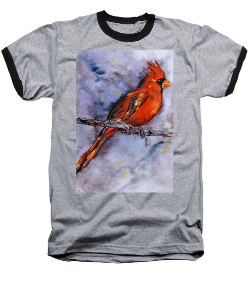 Baseball T-Shirt featuring the painting In The Moment by Beverley Harper Tinsley