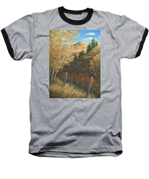 Baseball T-Shirt featuring the painting In The Shadow Of Belt Butte by Kim Lockman
