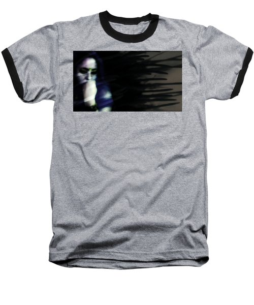Baseball T-Shirt featuring the photograph In The Shadows Of Doubt  by Jessica Shelton