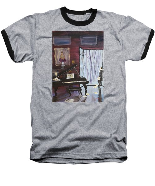 Baseball T-Shirt featuring the painting In The Still Of The Night by Alan Lakin