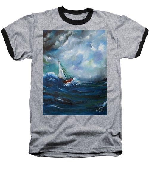 In The Storm Baseball T-Shirt by Dorothy Maier