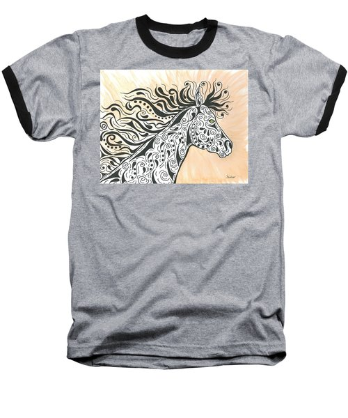 In The Wind Baseball T-Shirt by Susie WEBER