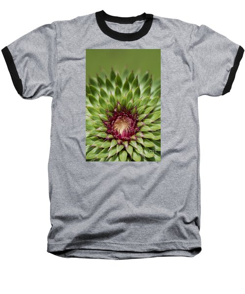 Baseball T-Shirt featuring the photograph In Thistle's Heart by Simona Ghidini