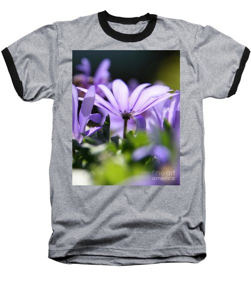 Floral Purple Light  Baseball T-Shirt