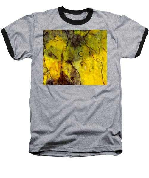 In Yellow  Baseball T-Shirt by Danica Radman