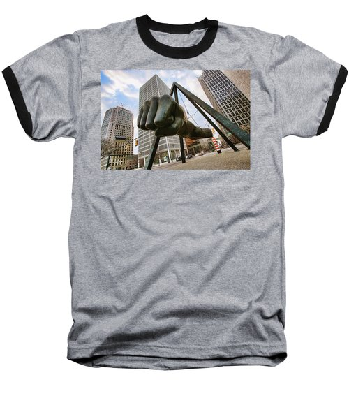 In Your Face -  Joe Louis Fist Statue - Detroit Michigan Baseball T-Shirt by Gordon Dean II