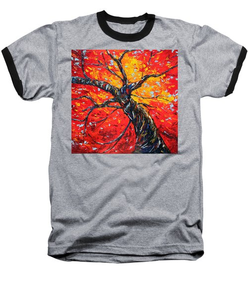 Baseball T-Shirt featuring the painting In Your Light by Meaghan Troup