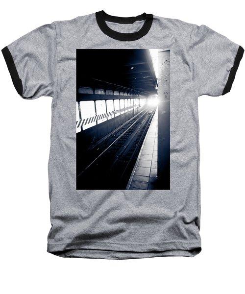 Baseball T-Shirt featuring the photograph Incoming At The Subway - New York City by Peta Thames