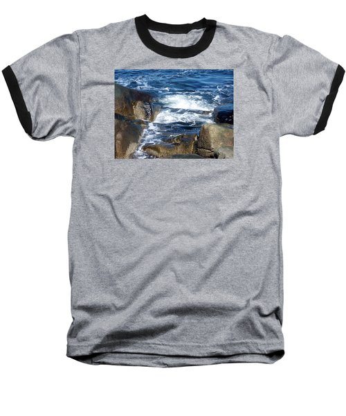 Incoming Tide Baseball T-Shirt by Catherine Gagne
