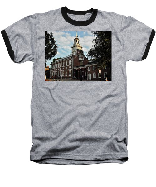 Baseball T-Shirt featuring the photograph Independence Hall by Ed Sweeney
