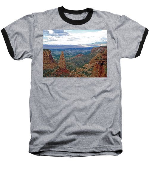 Independence Monument In Colorado National Monument Near Grand Junction-colorado Baseball T-Shirt