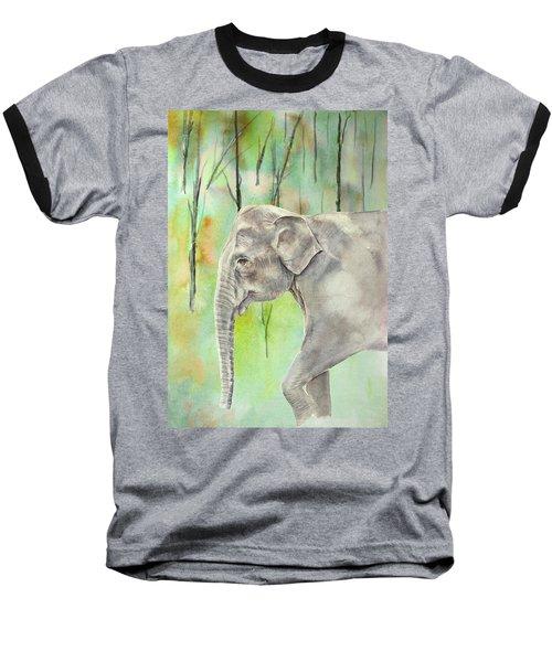 Indian Elephant Baseball T-Shirt