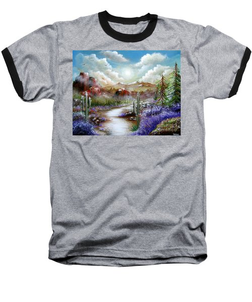 Baseball T-Shirt featuring the painting Indian Gin And Whiskey Dry by Patrice Torrillo