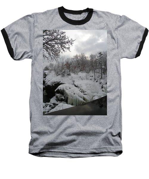 Indian Leap In Winter Baseball T-Shirt