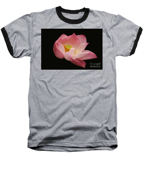 Indian Lotus On Black --- Sacred Light Baseball T-Shirt