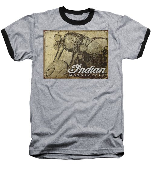Indian Motorcycle Poster Baseball T-Shirt