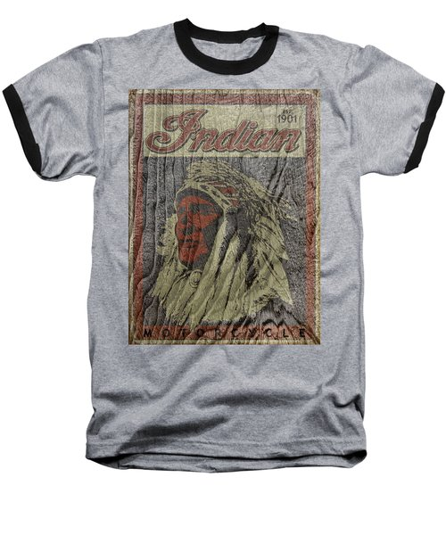 Indian Motorcycle Postertextured Baseball T-Shirt