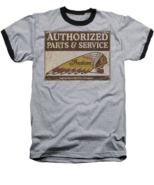 Indian Motorcycle Sign Baseball T-Shirt