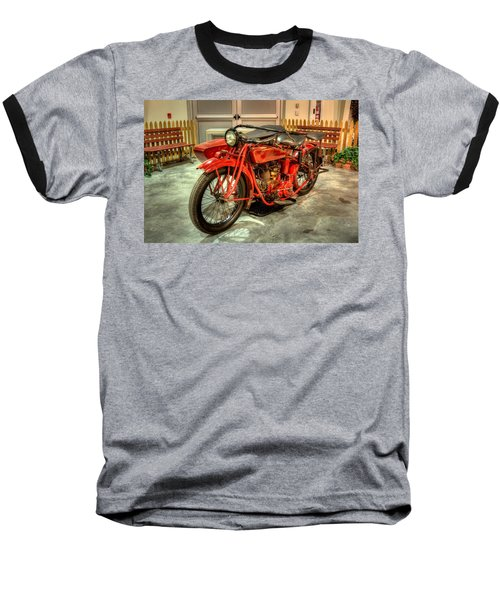 Indian Motorcycle With Sidecar Baseball T-Shirt