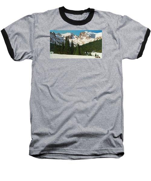 Indian Peaks Winter Baseball T-Shirt by Dan Miller