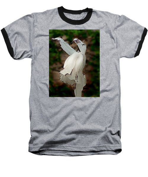 Indian Pipe Baseball T-Shirt by William Tanneberger