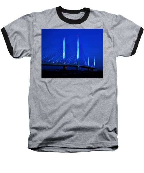 Indian River Bridge At Night Baseball T-Shirt