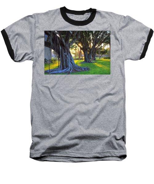 Indian Sunset Baseball T-Shirt by Iryna Goodall